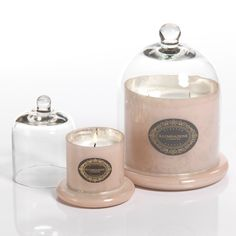 Illuminazione Candle with Dome - Antique Pink Silver