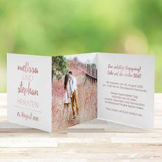Einladungskarte Hochzeit Forever Love inkl. Foto- & Textdruck ab 20 Karten