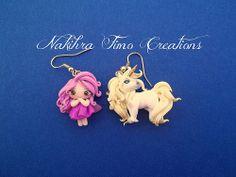 Unicron + Fairy Polimer Clay Earrings