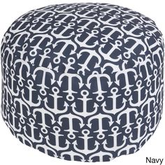 Sea Anchor Outdoor/ Indoor Decorative Cylinder Pouf - Overstock Shopping - Great Deals on Ottomans