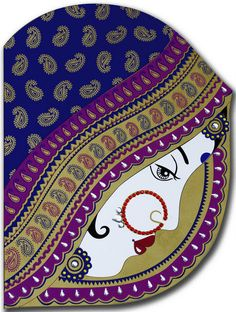 A graceful & innovative card is a tribute to the creation of high quality designing. Front of the card covered with nice traditional dulhan image and metaphorically embellished with multi kundan art, holding quality inserts. It looks all time pretty...!