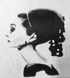 Audrey olio su carta