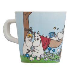 Moomin Hammock Children's Mug Little ones will feel so grown up sipping from this mug! For the young and young-at-heart, the Moomins are a Finnish favorite for their family values and sense of adventure. Here, the Moomins, Little M.