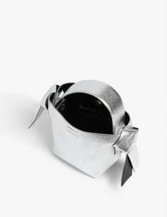 ACNE STUDIOS - Musubi micro leather bag | Selfridges.com Leather Crossbody Bag, Leather Bag, Smooth Leather, Druzy Ring, Acne Studios, Range, Cookers, Soft Leather