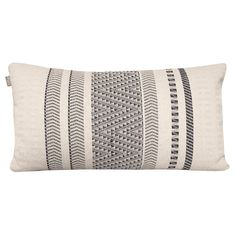 Malagoon Native Stripe Sierkussen 35 x 65 cm Striped Cushions, May Flowers, Decorative Cushions, Things To Buy, White Cotton, Starters, Nativity, Off White, Inspiration
