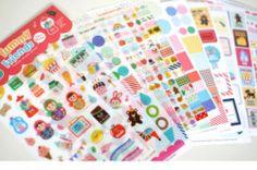 12SHEET Yummy Friend Diary Calendar Filofax Schedule Notebook Deco Point Sticker | eBay