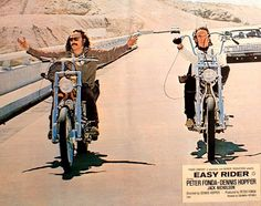 Easy Rider - Lobby card with Dennis Hopper & Peter Fonda. The image measures 1157 * 915 pixels and was added on 22 February Vintage Bikes, Vintage Motorcycles, Peter Fonda Easy Rider, Biker Movies, Old School Chopper, Dennis Hopper, Harley Davidson Posters, Old School Vans, Motorcycle Posters