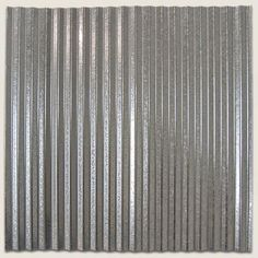 Corrugated Tin Ceiling Tile New Corrugated Steel **Real Steel Tile - Leather Gloves Required When Working with Tiles** Dakota Tin is proud to offer Corruga Corrugated Tin Ceiling, Corrugated Metal, Corrugated Roofing, Galvanized Metal, Mirror Ceiling, Tin Ceiling Tiles, Metal Wall Panel, Metal Walls, Basement Ceiling Options