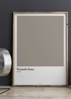 En affisch med färgkarta i grå nyans. Fina färgkartor och posters till ditt vardagsrum | Archiveseven.com French Grey, Mists, Poster, Decor, Decoration, Decorating, Billboard, Deco