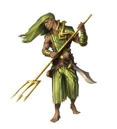 Male Half-Elf Druid of Gorzeh - Pathfinder PFRPG DND D&D 3.5 5th ed d20 fantasy