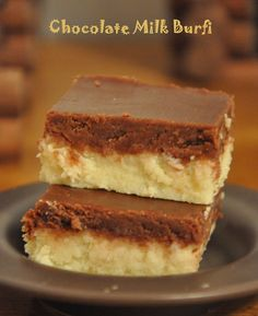 Chocolate Milk Burfi