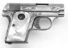 Colt 1908 Vest Pocket Hammerless .25 ACP Pistol Engraved and Gold ... Find our…