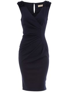 Navy dress. Yes.