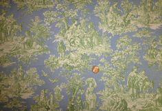 Waverly Country Life Cotton Decorator Fabric Rare Blue & Green 1 yard. $24.95, via Etsy.
