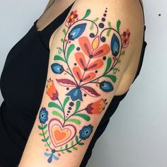 Folk Art Tattoo