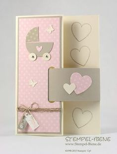 Stampin' Up, Babykarte, Hearts a Flutter, Tiny Tags