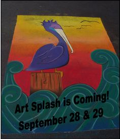 Art Splash will be held here in Carlsbad on September 28th and 29th.  This great event helps support music and art in our local schools.  The Pelican Cove Inn will be donating 10% of our sales for the 27th and 28th to Art Splash.  You can help in both ways.  Attend the event and stay will us!  More info on Art Splash at http://www.carlsbadartsplash.org