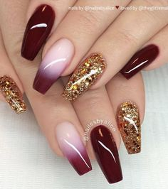 46 Elegant Acrylic Ombre Burgundy Coffin Nails Design For Short And Long Nails . - 46 Elegant Acrylic Ombre Burgundy Coffin Nails Design For Short And Long Nails Page 40 of 46 - Burgundy Nail Designs, Burgundy Nails, Ombre Burgundy, Red Ombre, Burgundy Wine, Nail Art Designs, Short Nail Designs, Nails Design, Dark Nails