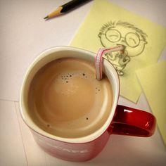 Nescafe is food for soul ; Coffee Break, I Love Coffee, My Coffee, Morning Coffee, Good Morning, Coffee Doodle, Sweet Coffee, Early Morning, Coffee Mugs