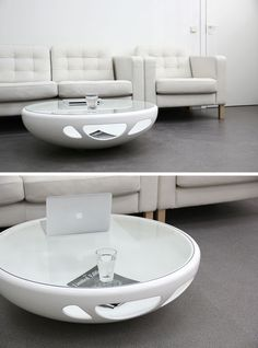 Furniture Ideas - Round Coffee Tables Made From Glass