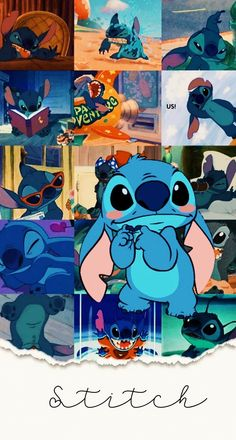 Blue Wallpaper Iphone, Cartoon Wallpaper Iphone, Cute Disney Wallpaper, Cute Cartoon Wallpapers, Pretty Wallpapers, Lilo And Stitch Memes, Cute Stitch, Cute Patterns Wallpaper, Cute Backgrounds