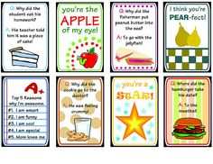 Lunch box notes & jokes - includes several holidays.
