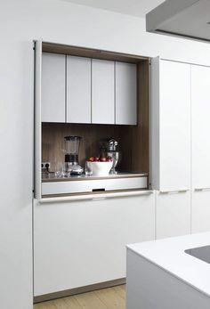 Get A Lifetime Of Project Ideas and Inspiration! Step By Step Woodworking Plans Hidden Kitchen, Kitchen Pantry, New Kitchen, Kitchen Storage, Kitchen Cabinets, Kitchen Appliances, Kitchen Organization, Kitchen Stuff, Kitchen Robot