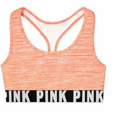 PINK SPORTS BRA MED New med pink PINK Victoria's Secret Tops