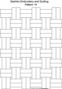 Sashiko Pattern 12: Sashiko Pattern 14