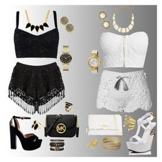 Black or White by amra-sarajlic on Polyvore featuring moda, NLY Trend, Dolce&Gabbana, Giuseppe Zanotti, MICHAEL Michael Kors, Betsey Johnson, Steve Madden, OMEGA, Marc by Marc Jacobs and Samantha Wills