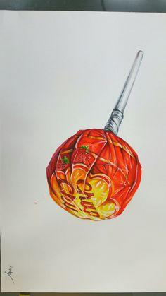 its an inside joke Realistic Paintings, Realistic Drawings, Colorful Drawings, Colored Pencil Artwork, Color Pencil Art, Art Sketches, Art Drawings, Candy Drawing, Art Kawaii