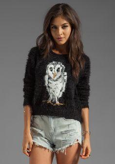 MINKPINK Mr Hooty Pullover Sweater