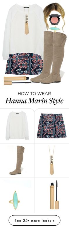 """""""Hanna Marin inspired Thanksgiving outfit"""" by liarsstyle on Polyvore featuring H&M, MANGO, Bamboo, Forever 21, Jane Iredale, mid, thanksgiving and WF"""