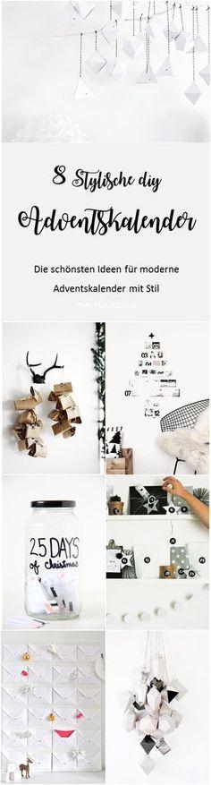 Bild: DIY Adventskalender - 8 Ideen für stylische und moderne Adventskalender zum selber machen, gesammelt auf Partystories.de