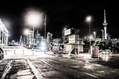 """""""Night is purer than day; it is better for thinking and loving and dreaming. At night everything is more intense, more true. The echo of words that have been spoken during the day takes on a new and deeper meaning."""" Auckland, Waterfront/North Wharf  August 2016.  #auckland #waterfront #photography #nightshoots #nz #peaceful #raining #beauty #city #nightphotography #hobby #passion #quote"""