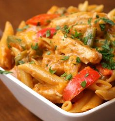 Chicken Fajita Pasta - Tasty And One Pot Only | The WHOot