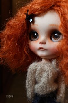 Ooak Custom Blythe Art Doll Ginger by Iriscustom von aline8