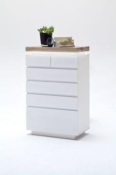Kommode Weiss Matt/ Wildeiche Massiv Woody 41 02040 Holz Modern Jetzt  Bestellen Unter: