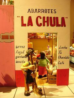 """La maqueta de la familia Burrón, en el museo del """"Estanquillo"""""""