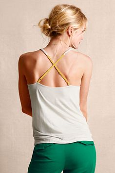 Outfit 3: Women's Crossback Cami from Lands' End Canvas in eggshell. Such a lovely, versatile layering piece...perfect for upcoming sweater season! #CanvasChinos