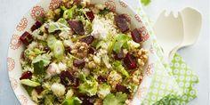 Boodschappen - Couscous met courgette, bietjes en walnoten