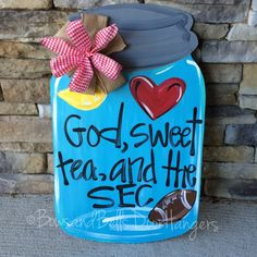 Hey, I found this really awesome Etsy listing at https://www.etsy.com/listing/192824642/football-door-hanger-mason-jar-door