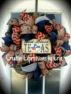 Check out this item in my Etsy shop https://www.etsy.com/listing/239819351/god-bless-texas-texas-wreath-lone-star