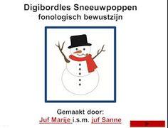 digibordles sneeuwpoppen fonologisch bewustzijn Juf Marije en Juf Sanne