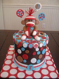 Prime 52 Best Sock Monkey Cakes Images Sock Monkey Cakes Monkey Cake Birthday Cards Printable Giouspongecafe Filternl
