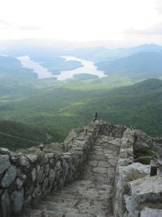 The view from the top of Whiteface Mountain in Lake Placid, NY! Empire State, Places To Travel, Places To See, Places Around The World, Around The Worlds, Lake Placid New York, Family Vacation Spots, Roadtrip, Places Of Interest