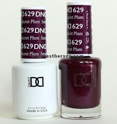 Daisy Gel Polish Secret Plum Size With a FREE matching nail lacquer. Blush Pink Nails, Plum Nails, My Nails, Dark Nails, White Nails, Dnd Gel Polish, Gel Polish Colors, Gel Color, Plum Color