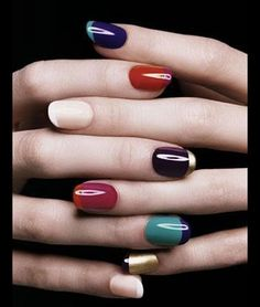 I almost NEVER wear nail polish on my finger nails; but ALWAYSon my toenails. However, if I could get my nails to stay strong, not brittle and tear easily, I think I may have to try this.for a special occasion Love Nails, How To Do Nails, Fun Nails, Pretty Nails, Nailed It, Nagellack Trends, Manicure Y Pedicure, Manicure Ideas, Nail Ideas