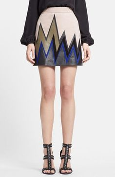 Emilio Pucci Zigzag Leather Miniskirt available at #Nordstrom