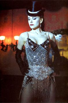Moulin Rouge. Diamonds are a girl's best friend. Nicole Kidman's tiny waist and alabaster skin did this corset and gloves combo a huge favour.
